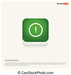 warning icon Green Web Button