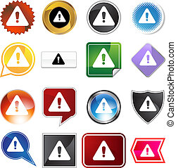 warning icon set