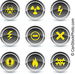 Warning icon set.