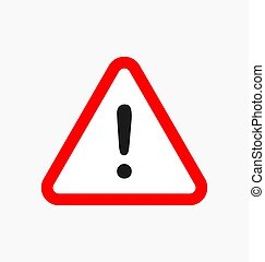 Warning icon / sign in flat style isolated. Caution symbol for your web site, logo, app, UI design. Vector illustration