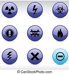 Warning icons.