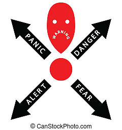 Warning - Illustration of exclamation mark as symbol of ...