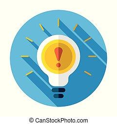 Warning light bulb illustration design over a white...