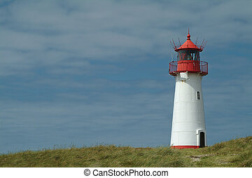 Warning light - Lighthouse from the island sylt, germany.