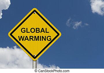 Warning of Global Warming Sign