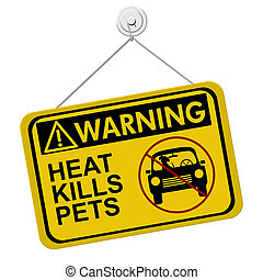 Warning of leaving a dog in parked cars