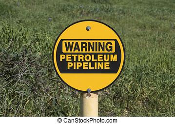 Warning Petroleum Pipeline Sign