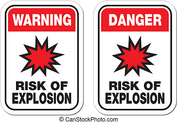 warning risk of explosion sign - suitable for warning signs