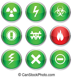 Warning round icons.