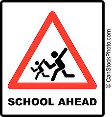 warning school sign