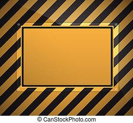 warning sign background