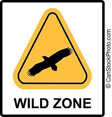 warning sign. danger signal with eagle. vector symbol