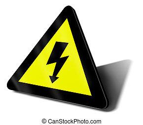 warning sign electric danger