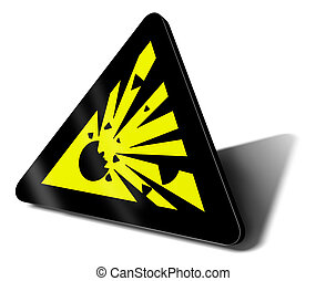 warning sign explosion