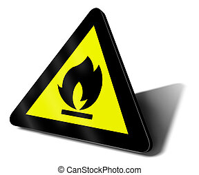 warning sign fire