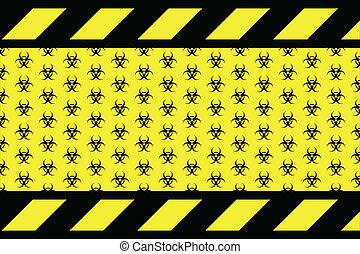 Warning sign for bio hazard on the