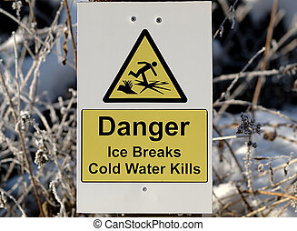 Warning Sign for Thin Ice