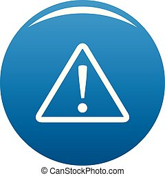 Warning sign icon blue vector