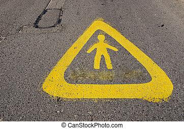 Warning sign near school attention children!