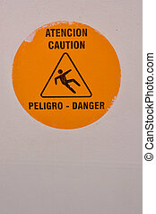 warning sign on a boat