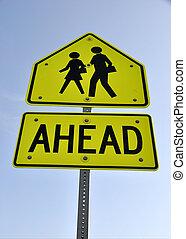 Warning Sign - School Children Crossing