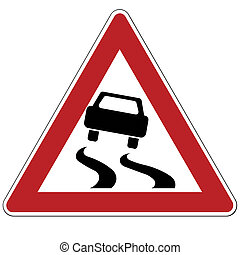 Stock Highway Rough Free On Dumielauxepices Net - Slippery Road Sign Clipart  (#200697) - PinClipart