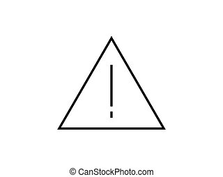 Warning sign symbol illustration vector isolated on white background