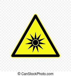 Warning sign . Template for your design