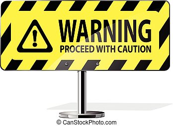 warning sign - Warning Road Sign vector icon set for web...