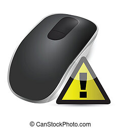 warning sign Wireless computer mouse