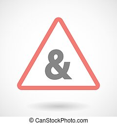 Warning signal icon with an ampersand