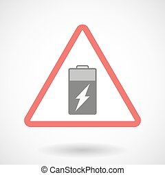 Warning signal with a battery