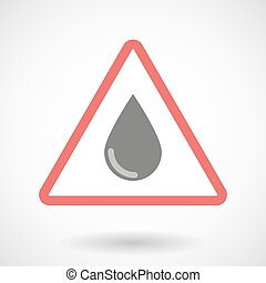 Warning signal with a blood drop