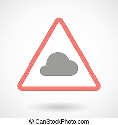 Warning signal with a cloud