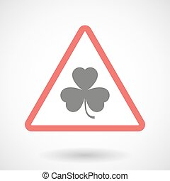 Warning signal with a clover