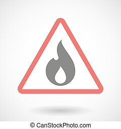 Warning signal with a flame