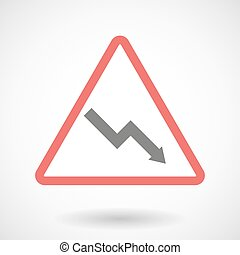 Warning signal with a graph