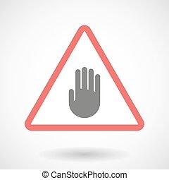 Warning signal with a hand