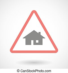 Warning signal with a house