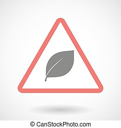 Warning signal with a leaf