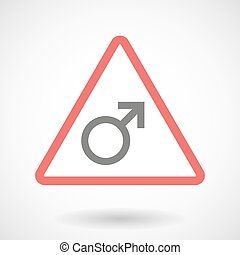 Warning signal with a male sign