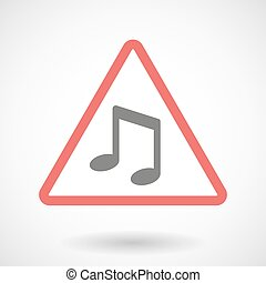 Warning signal with a note music