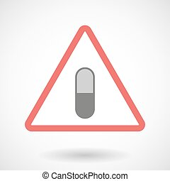 Warning signal with a pill