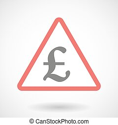 Warning signal with a pound sign