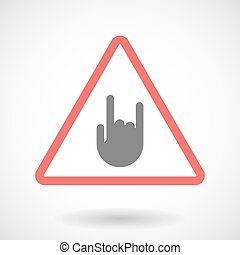 Warning signal with a rocking hand