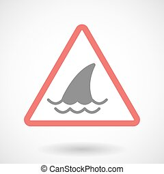 Warning signal with a shark fin