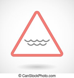 Warning signal with a water sign