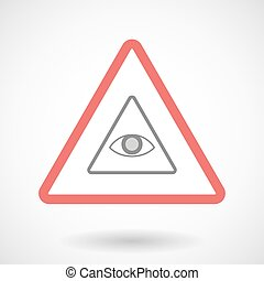 Warning signal with an all seeing eye