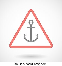 Warning signal with an anchor