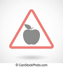 Warning signal with an apple